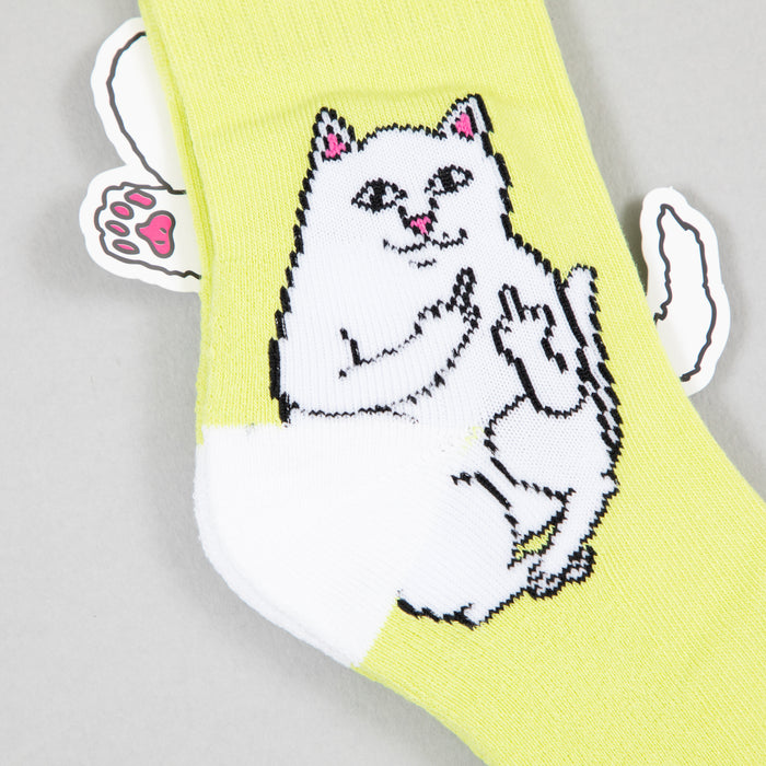 RIPNDIP Lord Normal Ribbed Socks in NEON GREEN