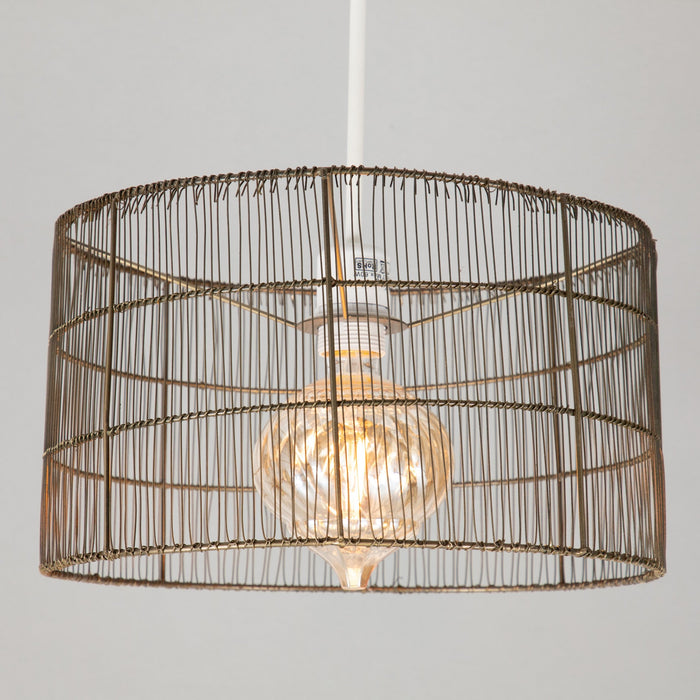 LIGHT & LIVING MANISA Wire Light Shade in ANTIQUE BRONZE