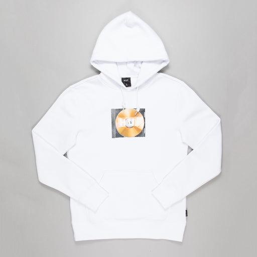 HUF Mix Box Logo Hoodie in WHITE