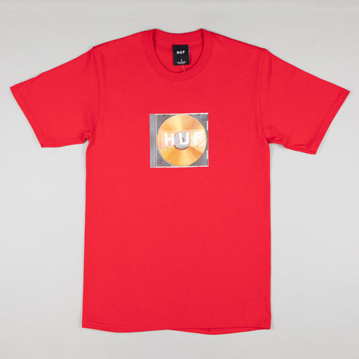 HUF Mix Box Logo Short Sleeve T-Shirt in RED