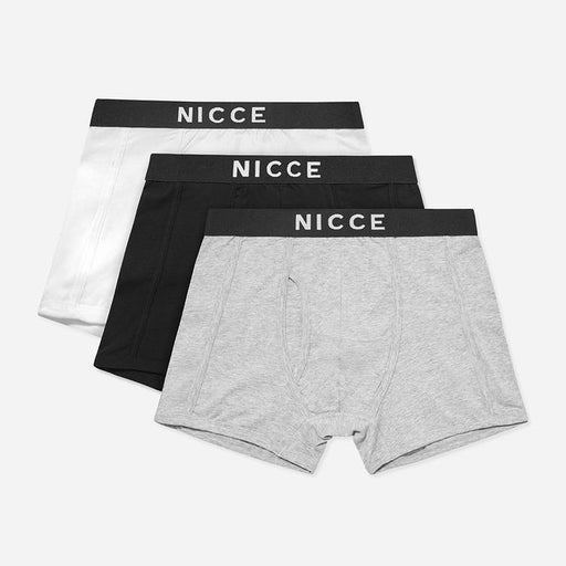 NICCE Codolar 3-Pack Boxer Shorts in BLACK, GREY & WHITE
