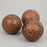 LIGHT & LIVING PITS Dark Brown Wooden Ornament Balls (Large)