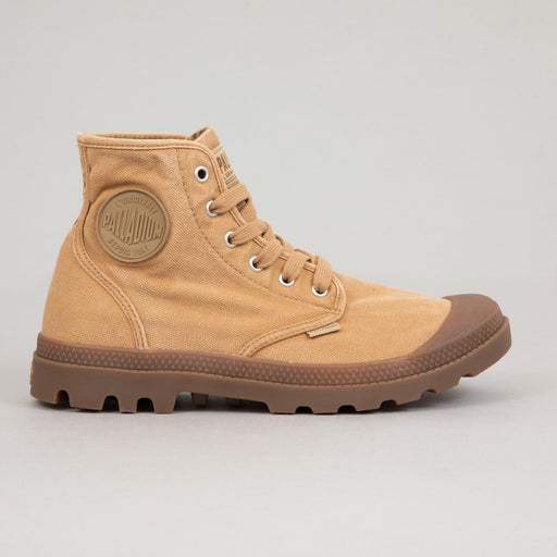 PALLADIUM Pampa Hi Canvas Boots in WOODLIN / TAN