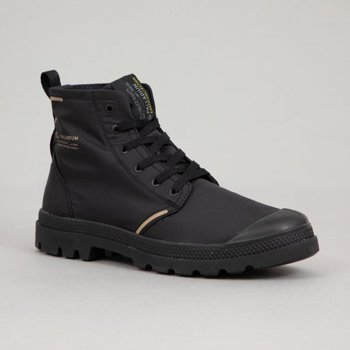 PALLADIUM Pampa Lite+ Waterproof Recycled Boots in BLACK