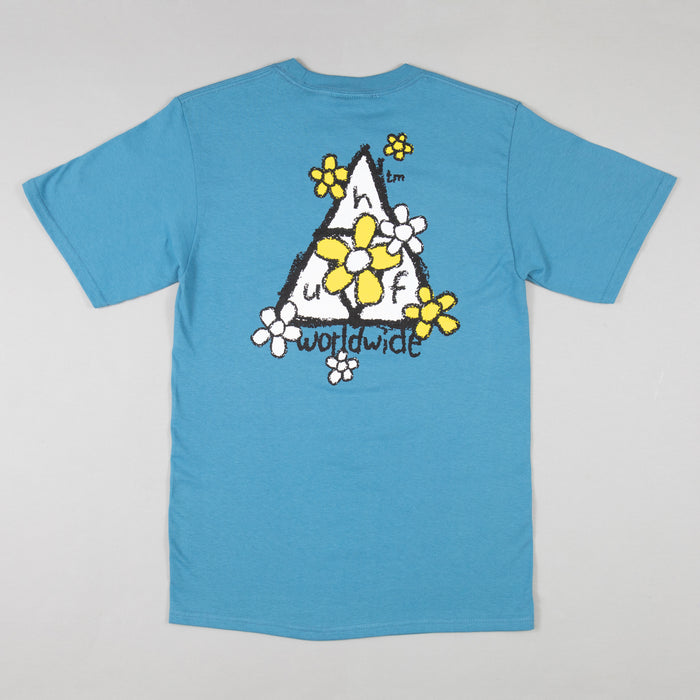 HUF Pushing Daisies Short Sleeve T-Shirt in COLONIAL BLUE
