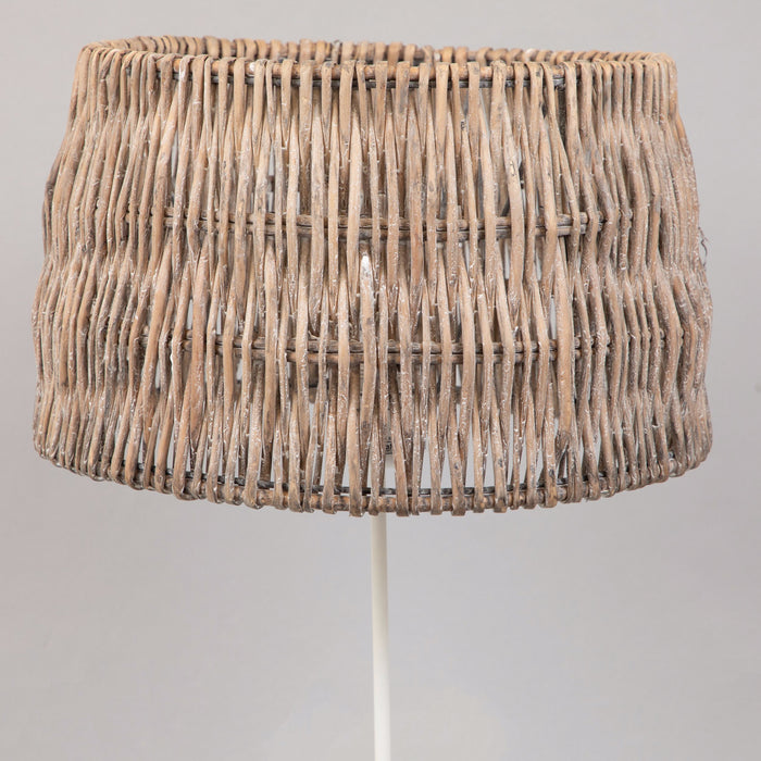 LIGHT & LIVING ROTAN Cylinder Wooden Shade in BROWN (40cm)