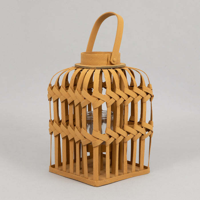 LIGHT & LIVING Talia Wooden Hurricane Lantern (36cm Height)