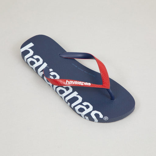 HAVAIANAS Logomania Flip Flops in BLUE & RED