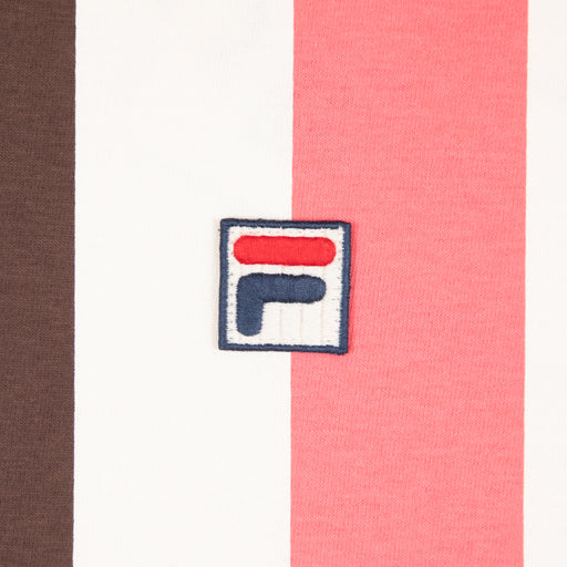 FILA Vintage Gach Vertical Striped T-Shirt in FRENCH ROAST & MULTI