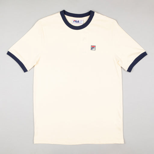 FILA Vintage Marconi Crew Neck T-Shirt in CREAM