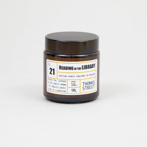 THOMAS STREET CANDLES #21 Reading in the Library Glass Travel Candle (90g)