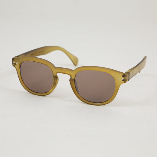 IZIPIZI #C The Retro Sunglasses in BOTTLE GREEN