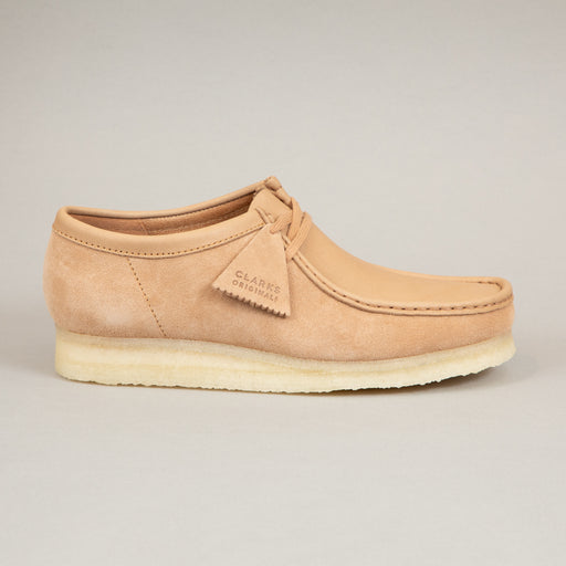 Wallabee Shoe in LIGHT TAN COMBICLARKS ORIGINALS - CACTWS