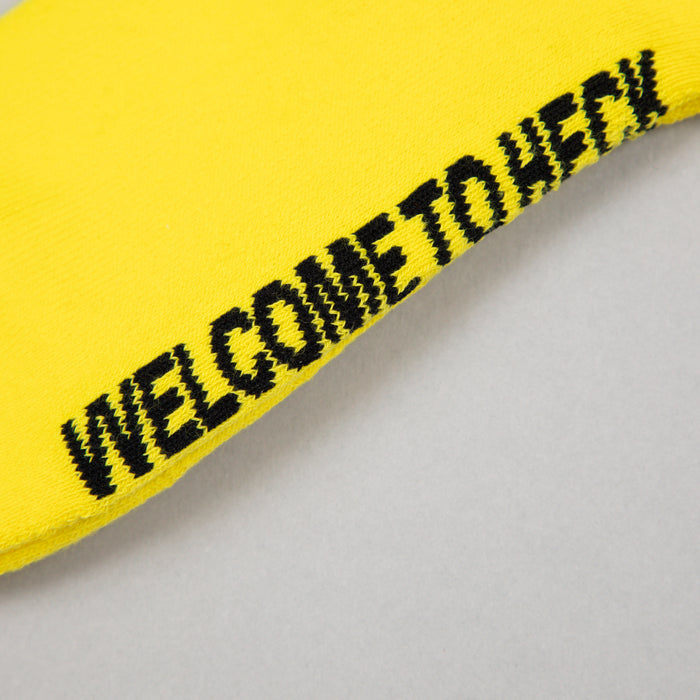 Welcome To Heck Socks in BLACK & YELLOW