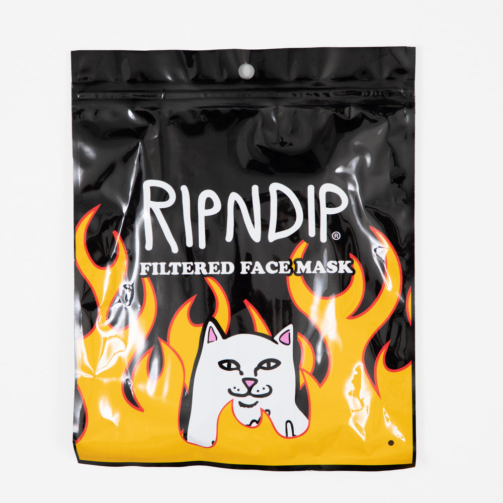 RIPNDIP Welcome To Heck Ventilator Mask / Face Covering in BLACK