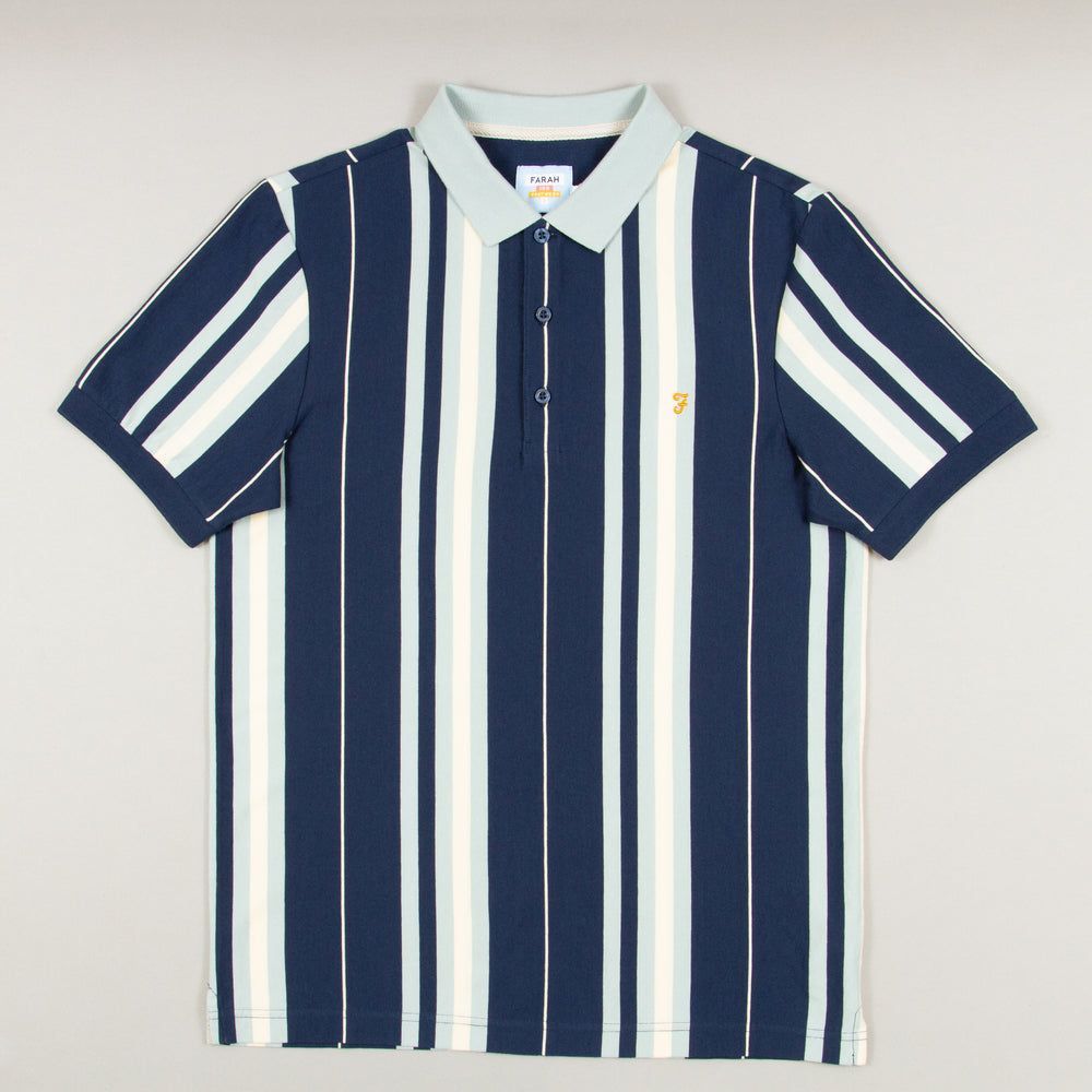 Wigwam Striped Polo in YALEFARAH - CACTWS
