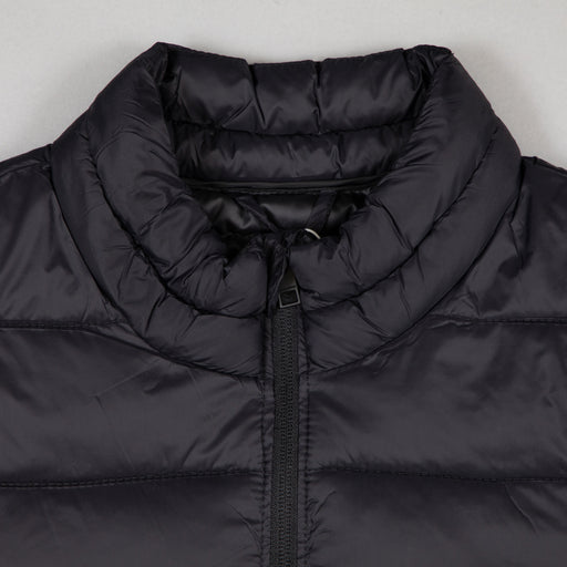 JACK & JONES Zip Through Puffer Jacket in BLACK