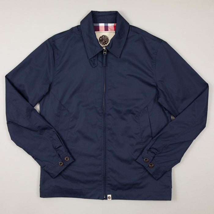 Zip Up Harrington Jacket in NAVYPRETTY GREEN - CACTWS