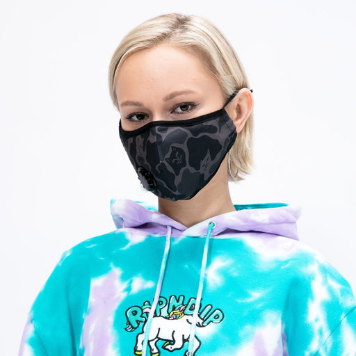 RIPNDIP Blackout Camo Ventilator Mask in BLACK