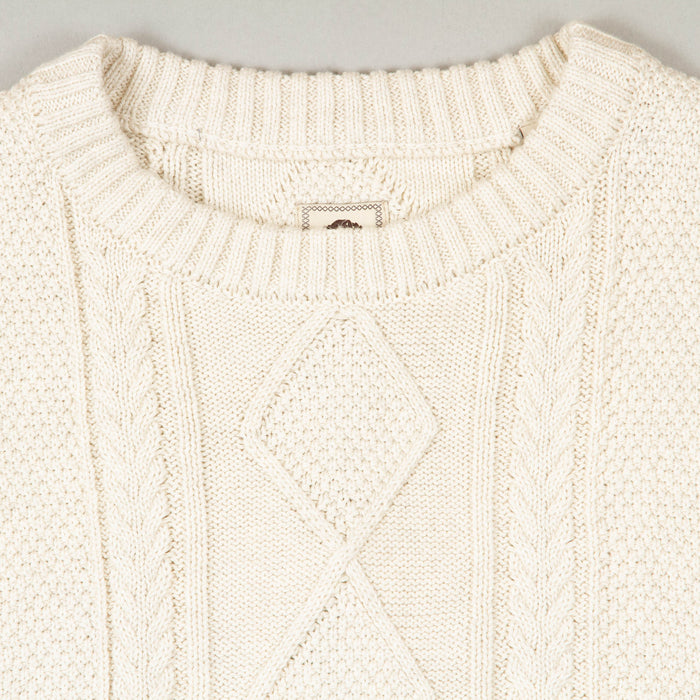 Cable Knit Jumper in STONEPRETTY GREEN - CACTWS