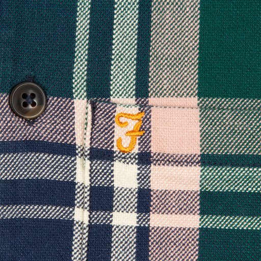 Bewlay Long Sleeve Check Shirt in BRIGHT EMERALD