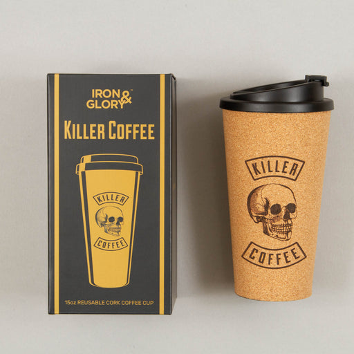 Killer Coffee Reusable Cork Coffee Cup