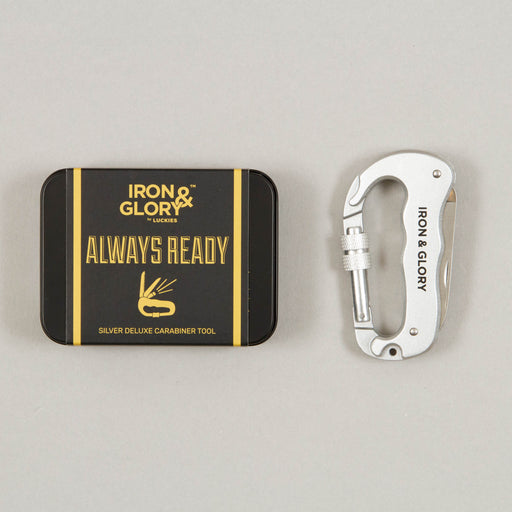 Always Ready Deluxe Carabiner Tool in SILVER