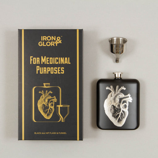 For Medicinal Purposes Hip Flask in BLACKIRON & GLORY - CACTWS