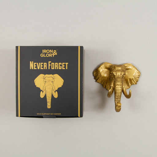 Never Forget Elephant Key Hanger in GOLD