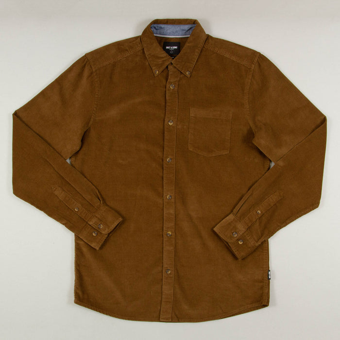 Georg Long Sleeve Corduroy Shirt in KANGAROOONLY AND SONS - CACTWS