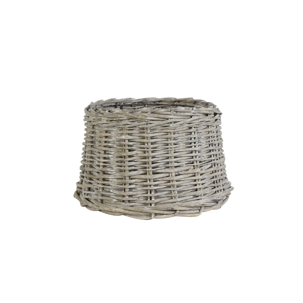 Light and Living ROTAN Cylinder Wooden Shade in GREY (25cm)