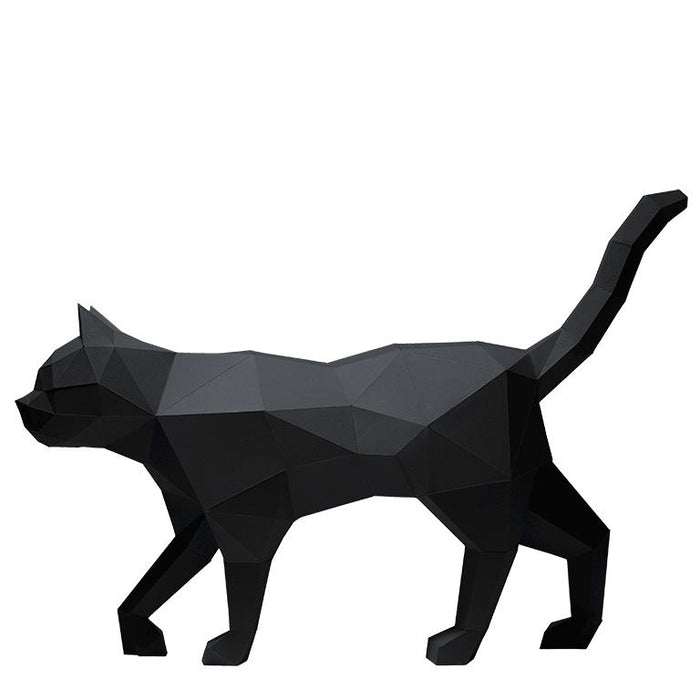 PAPERCRAFT-WORLD 3D Cat Model in BLACK