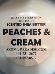 Peaches and Cream Scented Shea Butter