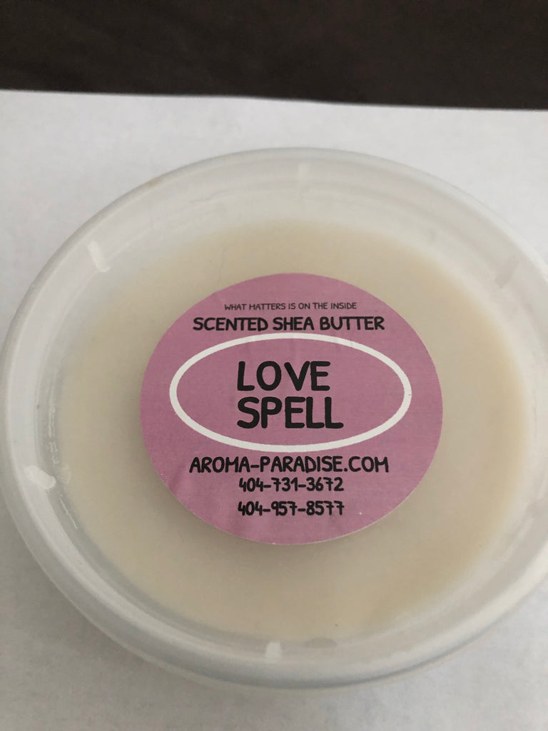 Love spell scented Shea butter