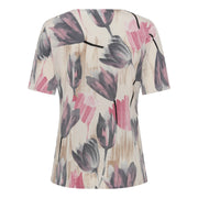 T-shirt fra Bassini - Blomsterprint