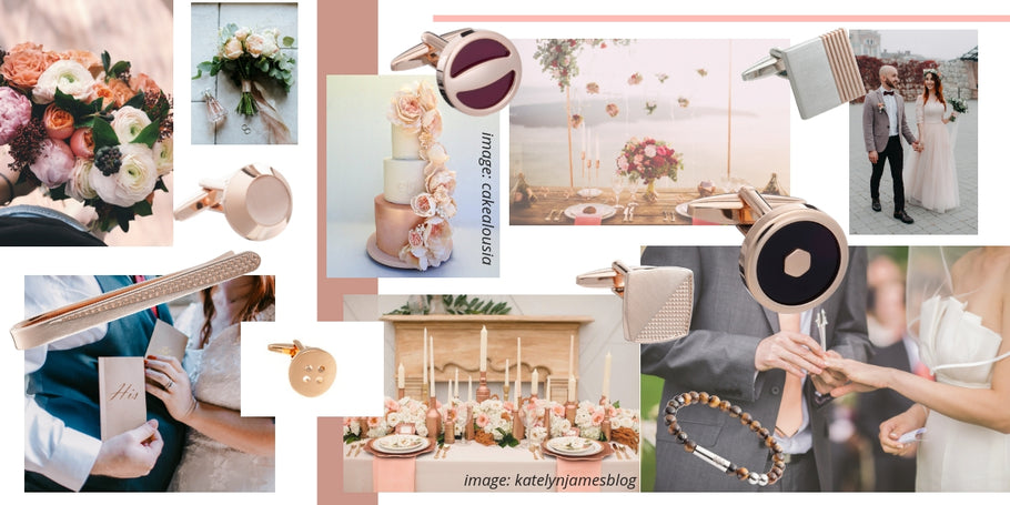 Undeniably Romantic Rose Gold Wedding Accessories