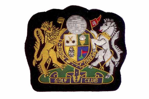 Golf Club Blazer Crest Badge by Elizabeth Parker