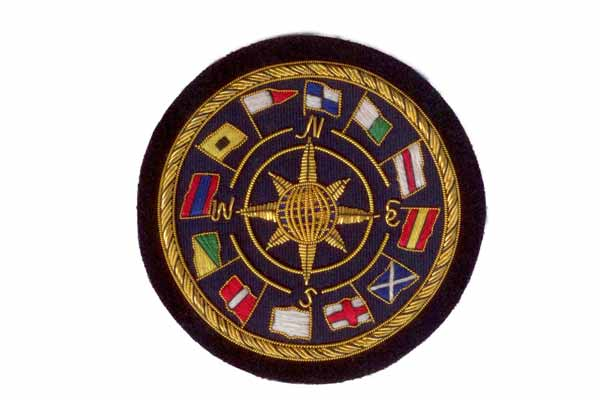 World Flag Blazer Crest Badge By Elizabeth Parker