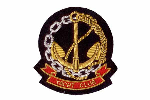 Yacht Club Blazer Crest Badge By Elizabeth Parker