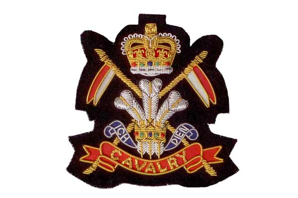 Cavalry Blazer Badge Crest by Elizabeth Parker