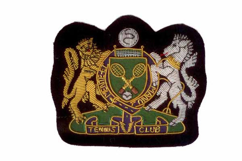 Tennis Club Blazer Crest Badge by Elizabeth Parker