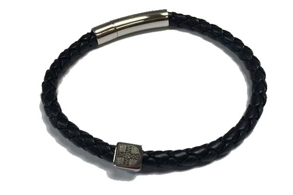 Official University of Cambridge Soft Braided Leather Bracelet with University Crest Engraved Metal Bead