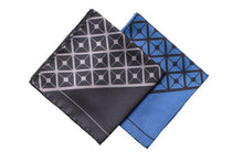 Load image into Gallery viewer, Diagonal Square Silk Pocket Square Range By Elizabeth Parker