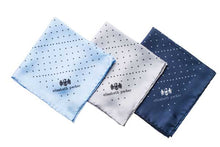 Load image into Gallery viewer, Multi Dotty Range of Silk Pocket Squares by Elizabeth Parker