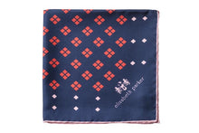 Load image into Gallery viewer, Red Diamonds For Ever Silk Pocket Square By Elizabeth Parker