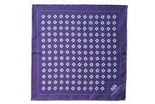 Load image into Gallery viewer, Blue Daisy Do Silk Pocket Square by Elizabeth Parker