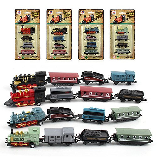 Steam Train Pack 4 locomotoras y vagones