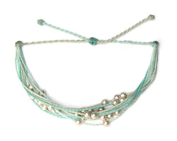 Bracelet - Beads / LightBlue