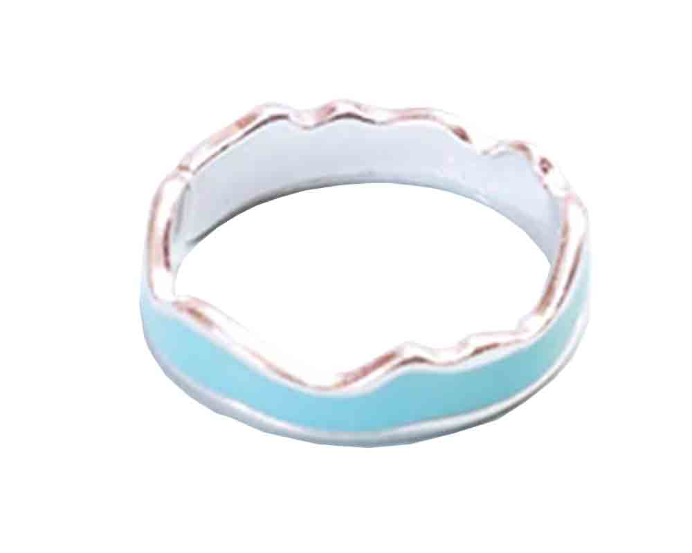 Enamel Light Blue Ring