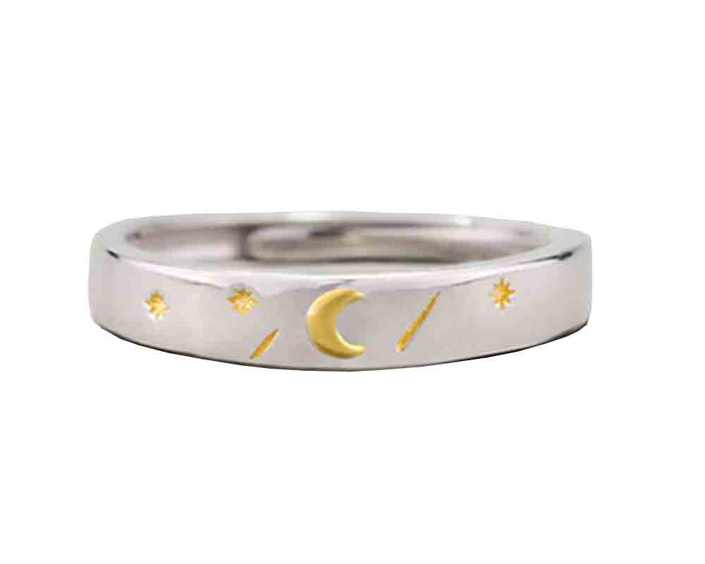 Enamel Yellow Moon Ring